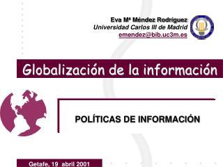 Globalizaci n de la informaci n