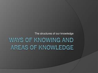 Ways of Knowing and Areas of Knowledge
