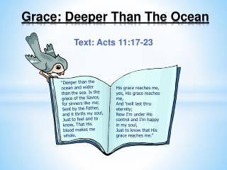 Grace: Deeper Than The Ocean