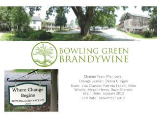 Change Team Members: Change Leader:  Debra Gilligan