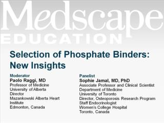 Selection of Phosphate Binders: New Insights