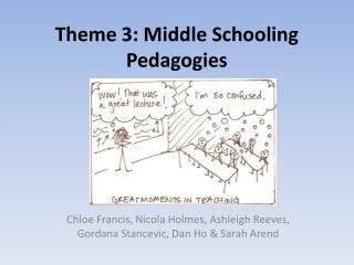 Theme 3: Middle Schooling Pedagogies