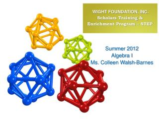 WIGHT FOUNDATION, INC. Scholars Training  &  Enrichment Program – STEP