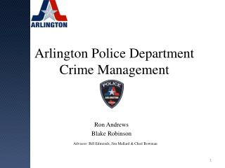 Arlington Police Department Crime Management