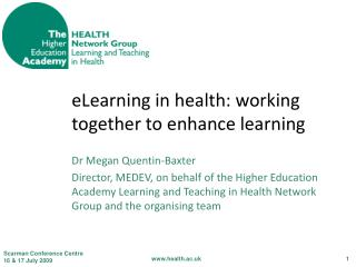 eLearning in health: working together to enhance learning