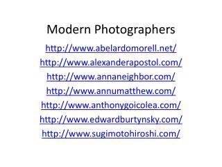 Modern Photographers