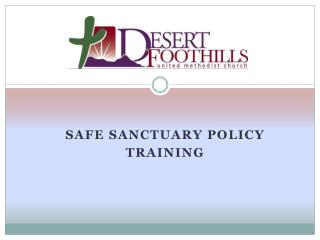 Safe sanctuary policy Training
