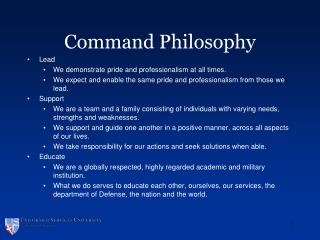 Command Philosophy