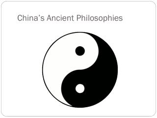 China�s Ancient Philosophies
