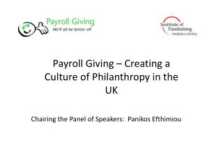 Payroll Giving – Creating a Culture of Philanthropy in the UK