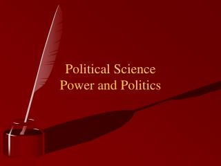 Political Science Power and Politics