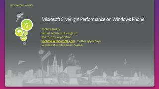 Microsoft Silverlight Performance on Windows Phone