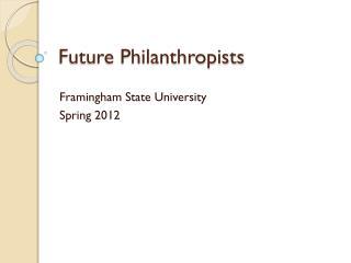 Future Philanthropists