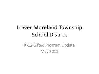 Lower Moreland Township School District