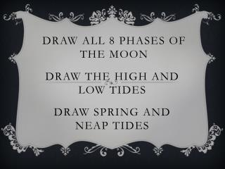 Draw all 8 Phases of the moon