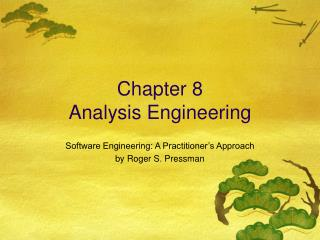 Chapter 8 Analysis Engineering