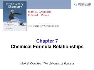 Chapter 7 Chemical Formula Relationships
