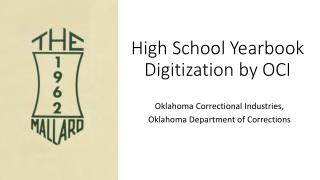 High School Yearbook Digitization by OCI