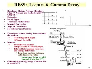 RFSS:  Lecture 6  Gamma  Decay