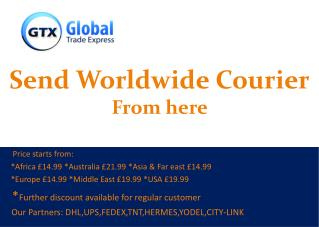 Send Worldwide Courier From here