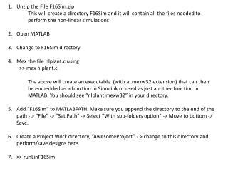 Unzip the File F16Sim.zip