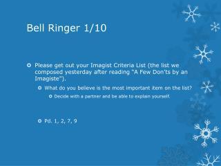Bell Ringer 1/10