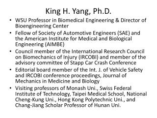 King H. Yang, Ph.D.