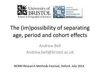 The ( im )possibility of separating age, period and cohort effects