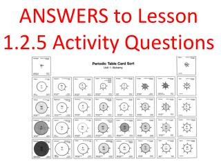 ANSWERS to Lesson  1.2.5 Activity Questions