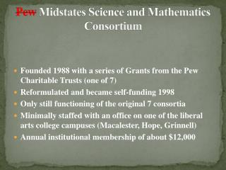 Pew Midstates  Science and Mathematics Consortium