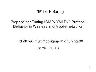 Proposal for Tuning IGMPv3/MLDv2 Protocol Behavior in Wireless and Mobile networks