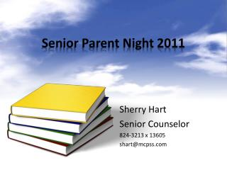 Senior Parent Night 2011