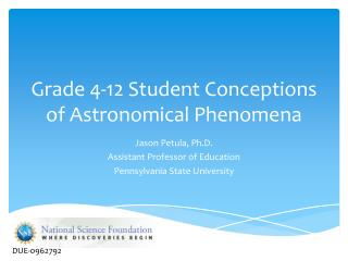Grade 4-12 Student Conceptions of Astronomical Phenomena