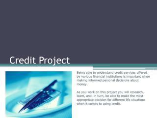 Credit Project