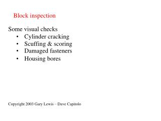 Block inspection