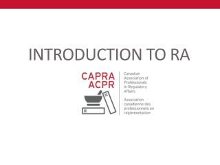 INTRODUCTION TO  RA