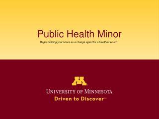Public Health Minor