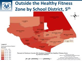 Outside the Healthy Fitness Zone by School District, 5 th