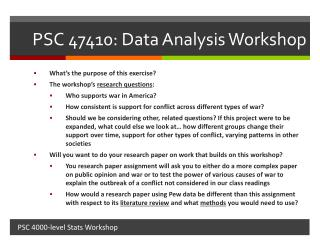 PSC 47410: Data Analysis Workshop