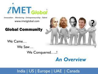 iMET Global community overview 2011-12