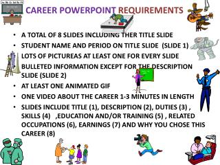 CAREER POWERPOINT  REQUIREMENTS