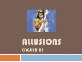 Allusions English III