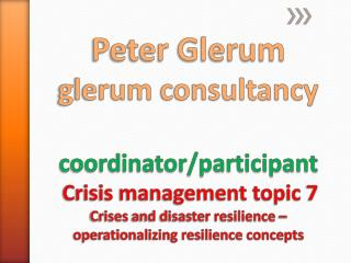 Operationalising resilience concepts