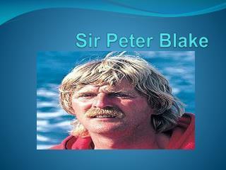 Sir Peter Blake