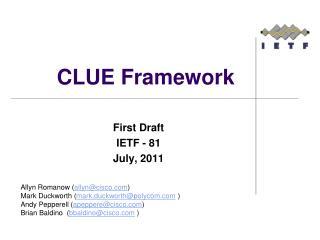 CLUE Framework