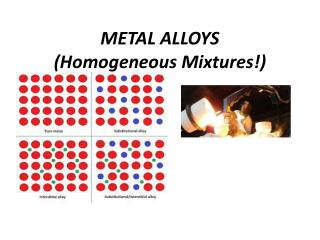 METAL  ALLOYS (Homogeneous Mixtures!)