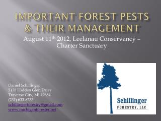 Important  Forest pests & Their  Management