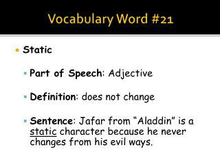 Vocabulary Word #21