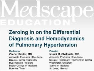 Zeroing In on the Differential Diagnosis and Hemodynamics of Pulmonary Hypertension