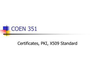 COEN 351